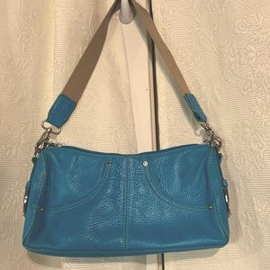 Tignanello teal leather handbag
